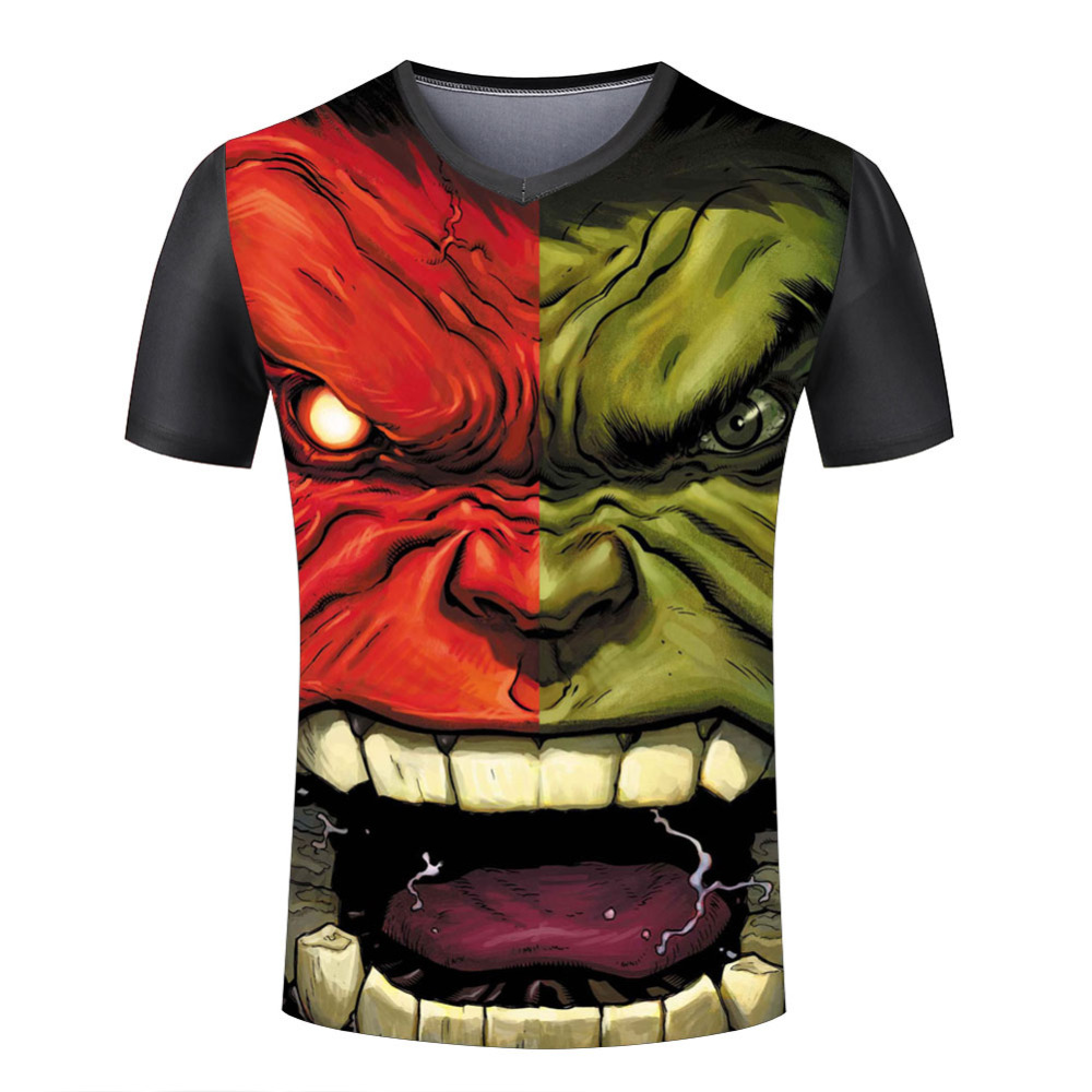 c09152974eb5 Masculine T Shirts Mighty Hulk Printed V Neck Man Tee Shirt American Style  Top Quality Casual Short Sleeve Cool Clothing-in T-Shirts from Men s  Clothing on ...