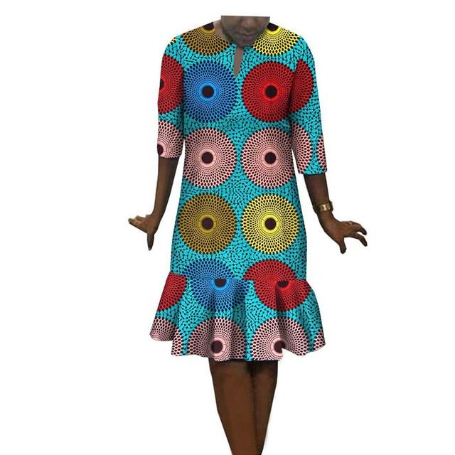 African dresses for women seven sleeves wax fabric cotton banquet maxi plus  big size dashiki ankara clothing African dress 14501c42f05b