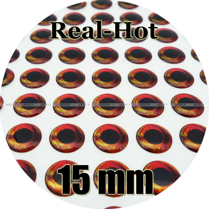 Wholesale 350 Soft Molded 3D Holographic Fish Eyes Fly Jig Lure 6mm Real Hard
