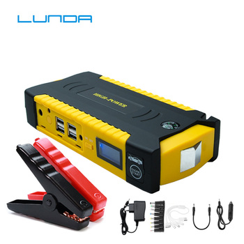LUNDA 600A Peak Current Portable Car Jump Starter  Charger Power Bank Emergency Car Battery Booster Pack Jump starting device