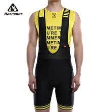 Racmmer, мужские летние шорты-комбинезон с для велоспорта Coolmax, 8 цветов, 5D гелевая подкладка, велосипедные нагрудники, колготки Mtb Ropa Ciclismo, влагоотводящие штаны