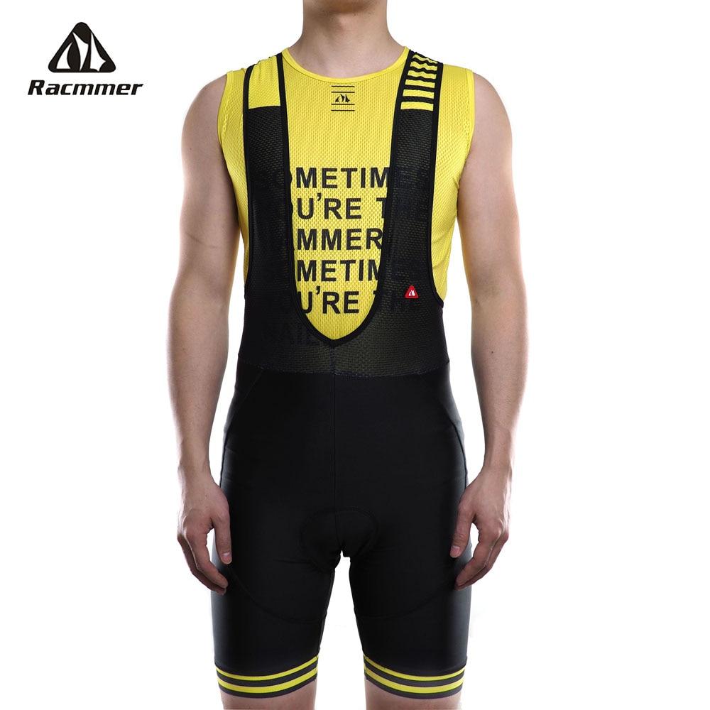 Racmmer 2019 babero Ciclismo Mens pantalones cortos de verano Coolmax 8 colores 5D Gel Pad bicicleta babero medias Mtb Ropa de Ciclismo de la humedad wicking de pantalones