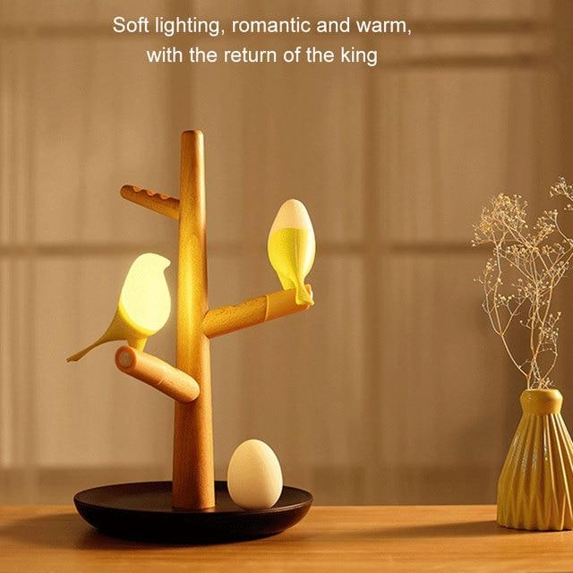 Novel USB Charging LED Table Lamp Tree Branch 3200K Infrared Sensor Night Light No Flickering for Home Shipping