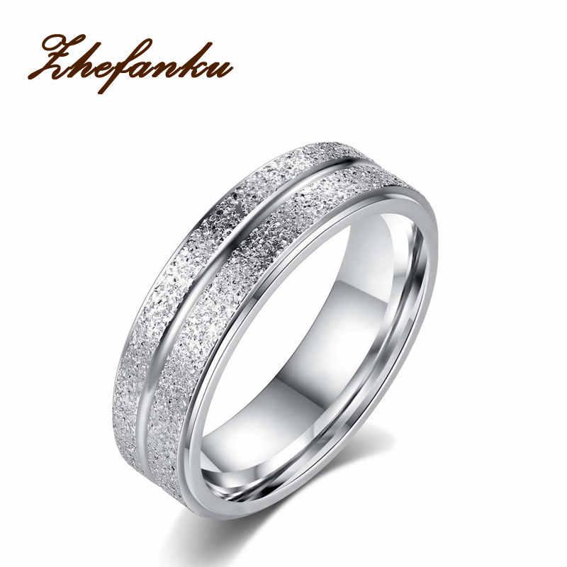 2017แฟชั่นใหม่แหวนแต่งงานสแตนเลสสองแถวF Rostedแหวนไทเทเนียมเหล็กAnillosสำหรับผู้หญิงผู้ชาย