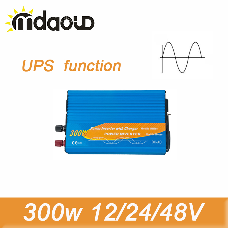 цена на 600W Peak Pure Sine Wave Inverter 300W 12/24/48VDC To 100/110/120/220/230/240VAC Solar Power Inverter with UPS function