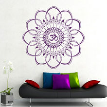 Home Decoration Wall Decals Mandala Meditation Ornament  Yoga Stickers Vinyl Mural CW-75