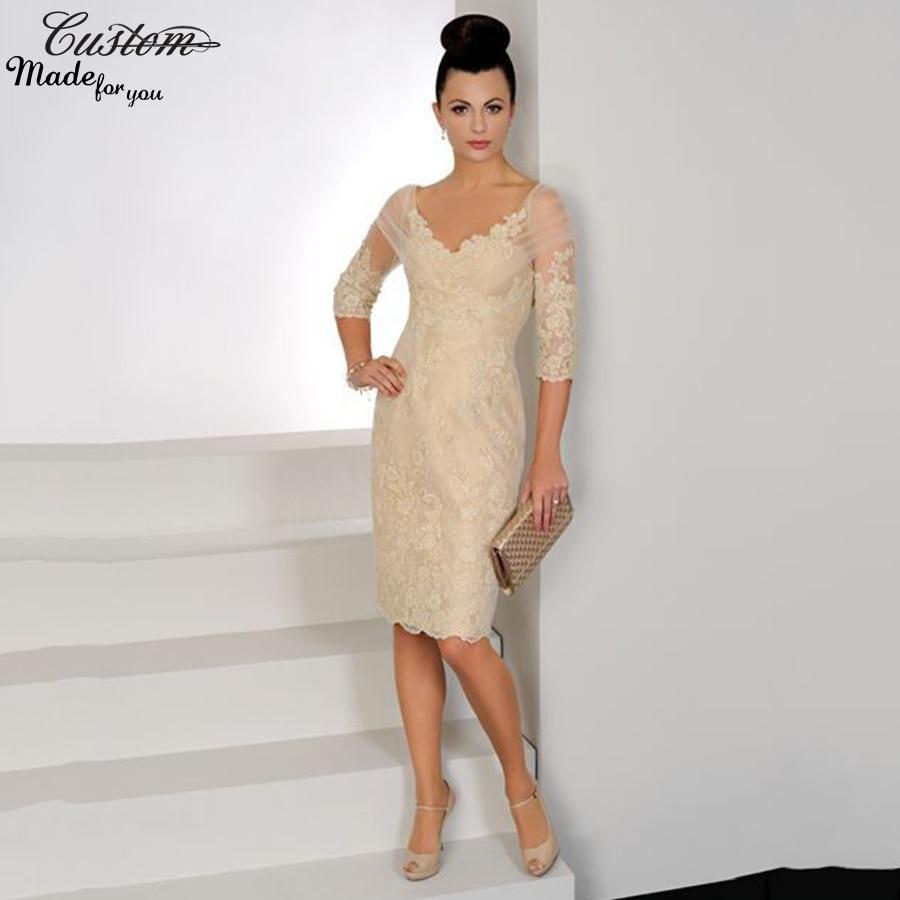 Elegant Women Formal Knee Length Evening Dresses Short