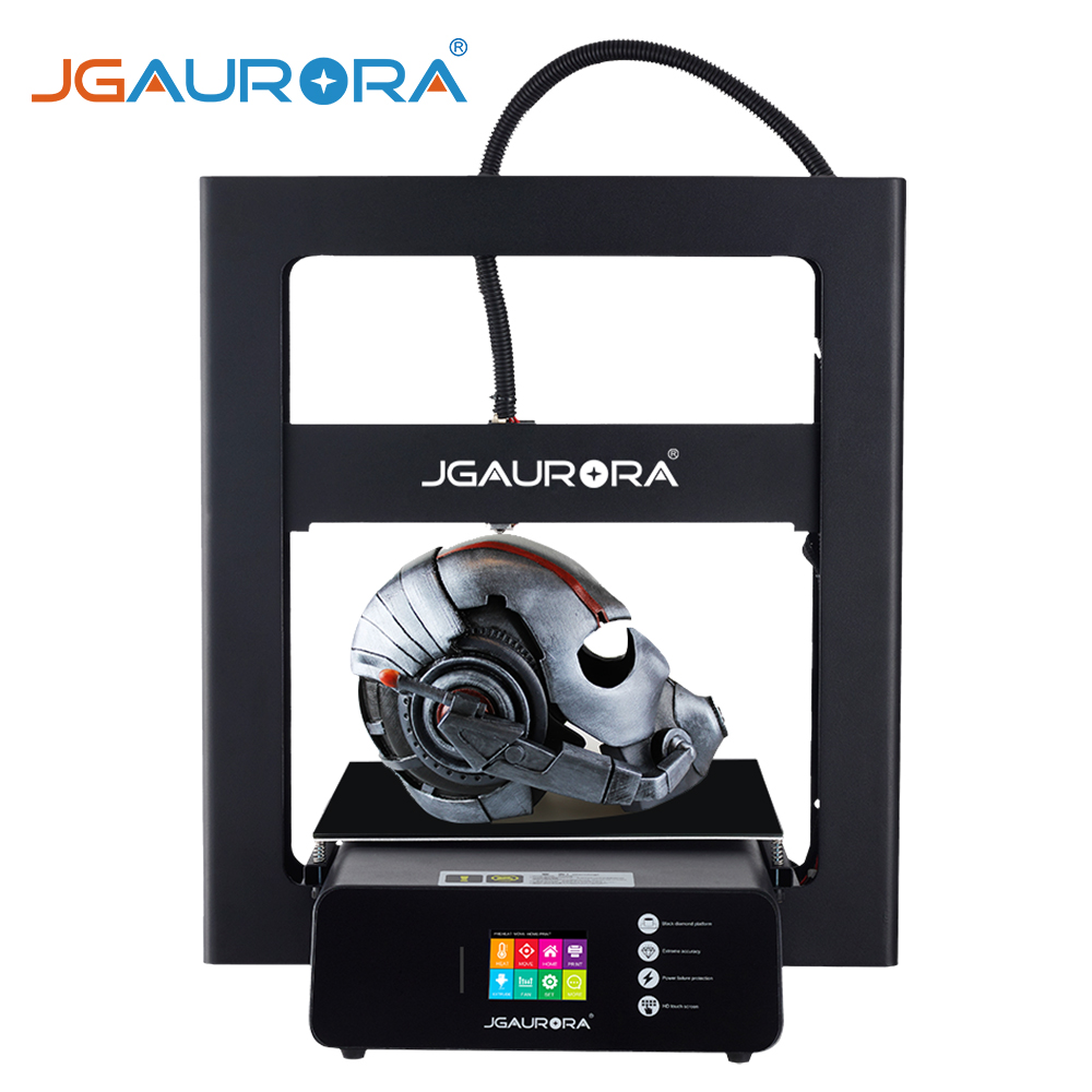 Imprimante 3D JGAURORA A5S améliorée avec alimentation certifiée UL et impression avec carte SD taille de construction 305*305*320mm