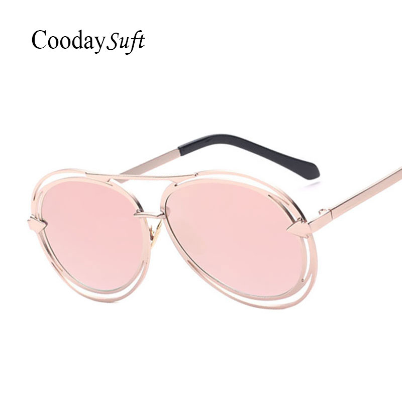 CVOO New Fashion Big Frame Round Sunglasses Women Brand Designer Hollow Sun Glasses Female Sun Glasses UV 400 Oculos De Sol Gafas pv3LL