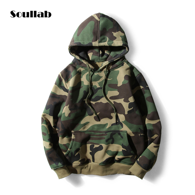 2a95e434f49 2018 new thick men women unisex camo camouflage army style top hoodies  sweatshirt chic brand cotton outwear hooded hip hop cool