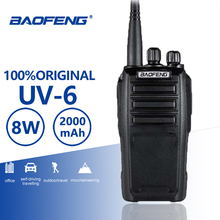 Buy Baofeng UV-6 Walkie Talkie New Arrival 8w 128 Channel High Power Long Standby UHF VHF Dual Band Two Way Radio Woki Toki CB Radio directly from merchant!