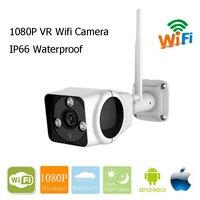 VR Camera Wifi Outdoor Waterproof IP Camera Plug Play Wi Fi Cam IR Night Vision 180