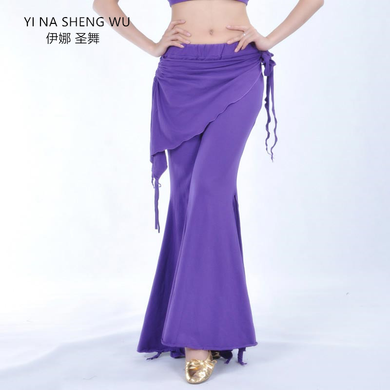 Women Lady Belly Dance Costume Dance Pants Tribal Bellydance Clothes Ladies High Waist Trousers Practice Clothes Dancewear