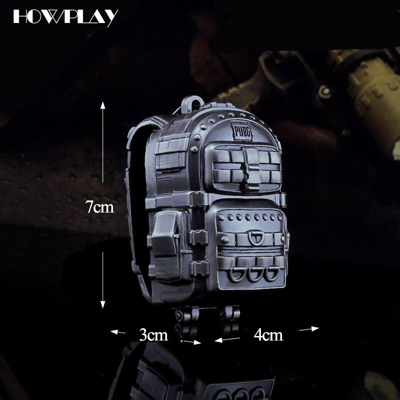HowPlay juguete pistola Rifle M24 rifle de francotirador Playerunknown batalla de juego llavero de aleación de arma modelo de pistola de juguete regalos de los niños
