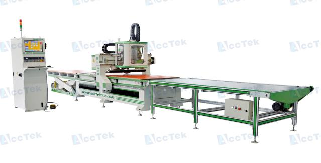 Auto feeding AKM1325 cnc carving machine for wood