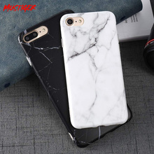 MUSTIGER Marble Case For iPhone X Xs Max 6 6s 7 8 Plus Soft Silicone Matte Cover Cases For iPhone 7 Cases Retro Cover Funda Capa