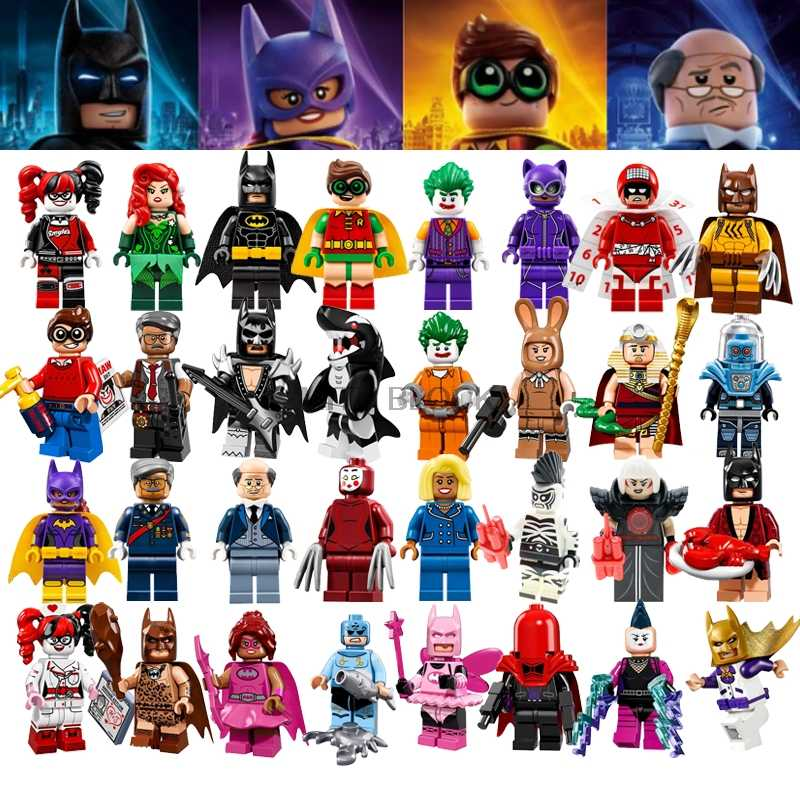 Batman Joker Robin Harley Quinn Logan Spiderman Catwoman Deadpool Super Heroes Ninjigoings Building Blocks