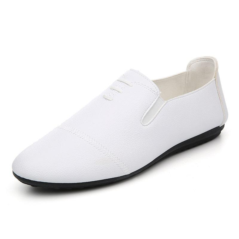 New Dress Mens Fashion Shoes Handmake White Leather Loafers 2017 Spring Breathable Flats Men's Driving Moccasins Slip On Casual 2017 new fashion summer spring men driving shoes loafers real leather boat shoes breathable male casual flats