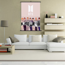 2018 New Version BTS Love Yourself Painting Scrolls Wall Decor BTS Poster ANSWER BT21 Painting Bangtan Boys Wallpaper Wall Stick