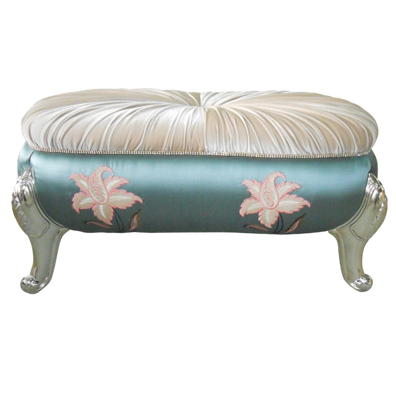 European-style bed stool neo-classical shoe stool solid wood sofa stool fabric bench leisure fashion wear shoes stool wooden small stool solid wood sofa stool fabric small bench mushroom stool low fashion creative shoes for shoe stool 28 28 21cm