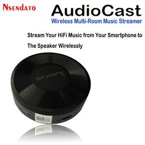 Image 2 - Audiocast M5 DLNA Airplay адаптер беспроводной Wi Fi музыкальный аудио стример ресивер аудио музыкальный динамик для Spotify мультикомнатные потоки