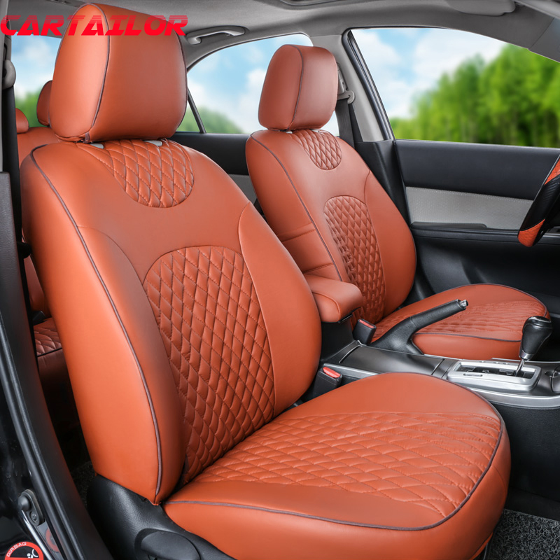 CARTAILOR Artificial Leather Car Seat Cover Custom For Toyota RAV4 2017 Seat Covers Cars Seats Protector Interior Accessories covers for citroen c4 car seat cover interior accessories sandwich cover seats for citroen black car styling seats protector