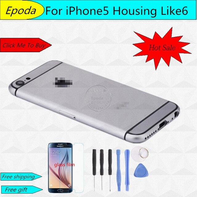 Для iphone 5 5g iPhone 6 Дизайн Стиль Задняя Крышка Батареи для Дома Рамка С Мелких Деталей Замена Частей Для iPhone5