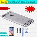 Para iphone 5 5g iphone 6 design estilo tampa traseira da bateria habitação quadro com peças pequenas parte substituição para iphone5