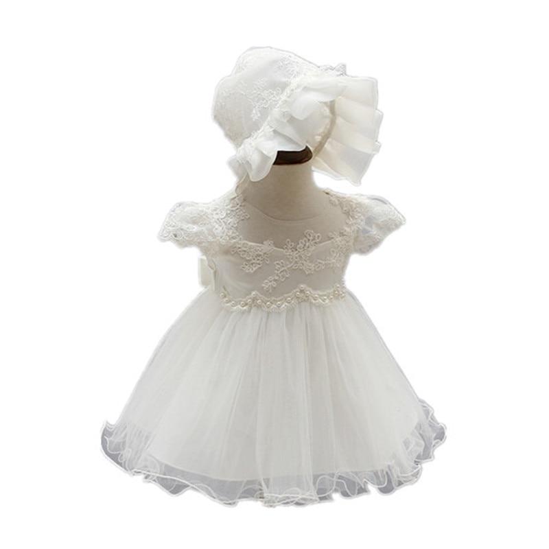 ФОТО BBWOWLIN Newborn Baby Girl Christening Gowns Dresses + Hat for 0-2 Years Little Girls Flower Girl Party Vestido Infantil 90200