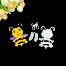 Julyarts Scrapbooking Cutting Dies DIY Bee Insect Metal Craft Blade Punch Stencils