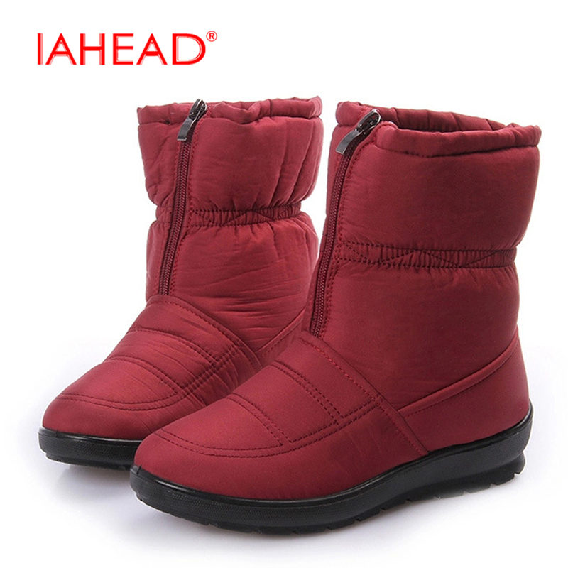 Snow boots Winter brand warm non-slip waterproof women boots mother shoes casual cotton winter autumn boots zapatos mujer UPA346