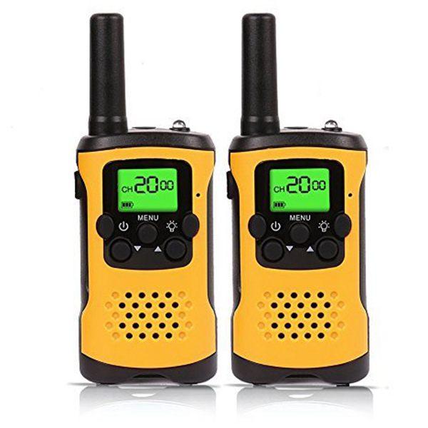 Enfants Talkies-walkies, 22-Canal FRS/GMRS Radio, 4-Mile Gamme Deux Radios Bidirectionnelles avec lampe de Poche et LCD Écran.