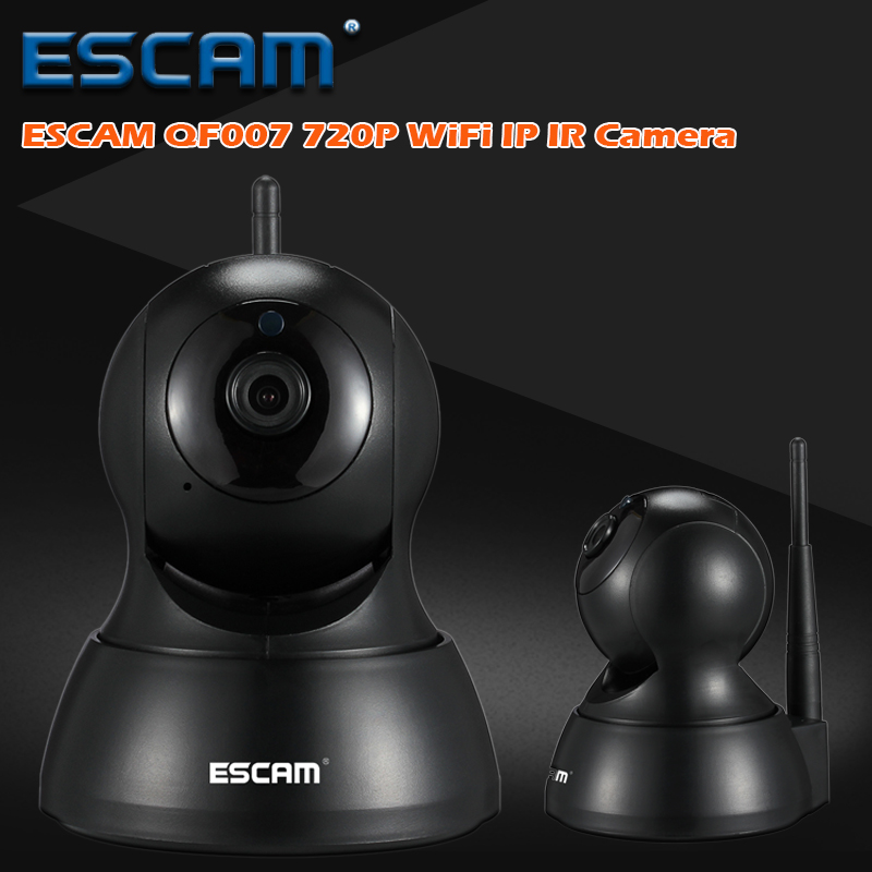 ESCAM QF007 IP camera Night Vision Onvif Support Motion Detection 1MP 720P Pan/Tilt Support 64G TF CARD Mini Wifi IP Camera new surveillance ip camera pan tilt p2p ir night vision motion detection wireless wifi indoor home security support 64g tf card