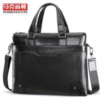 MARK SAXTON Genuine leather bag large capacity computer bag Fashion Shoulder Bag Casual men handbags New Business briefcase