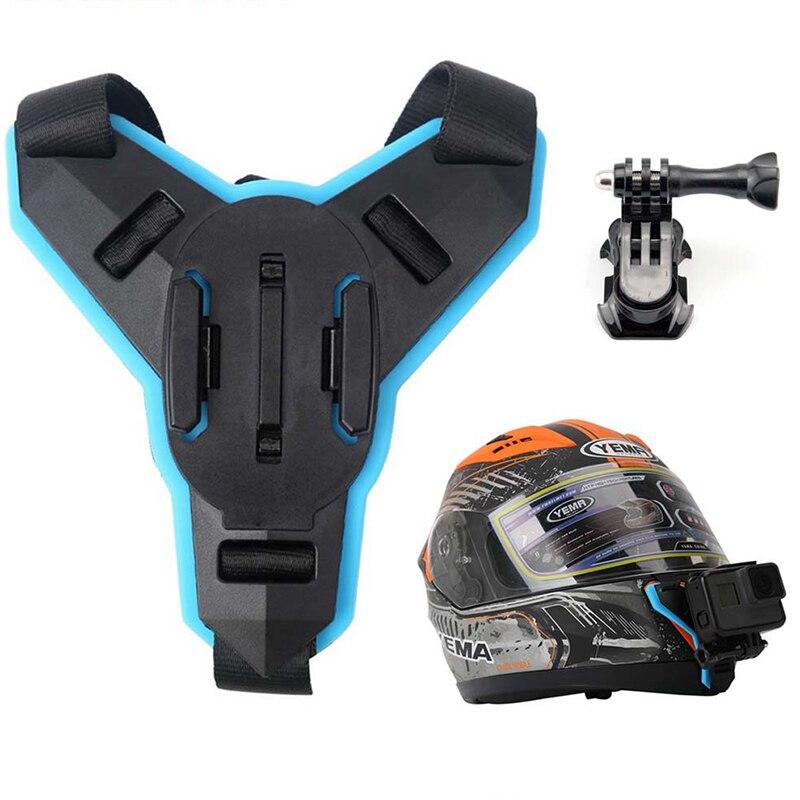 Full Face Helmet Chin Mount Holder For GoPro Hero 6 5 SJCAM Motorcycle Helmet Chin Stand Camera Accessories For Go Pro Hero 5(China)