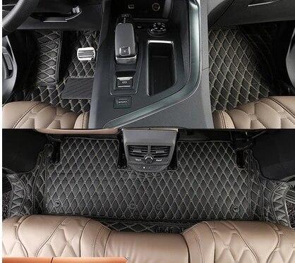 haute qualite tapis de sol de voiture special impermeable pour peugeot 5008 5 sieges 2020 2017 livraison gratuite