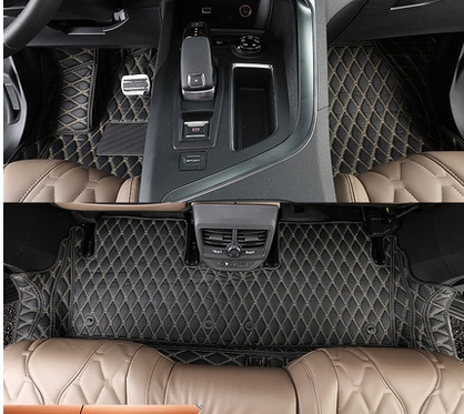High quality! Special car floor mats for Peugeot 5008 5 Seats 2017 waterproof car carpets for Peugeot 5008 2018,Free shipping