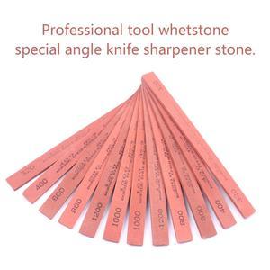 Image 2 - 6Pcs/Set 320 to 1200 Grit Oil Stone White Corundum Whetstone Grinding Sand Oil Stone Knife Sharpener Sharpening Stone