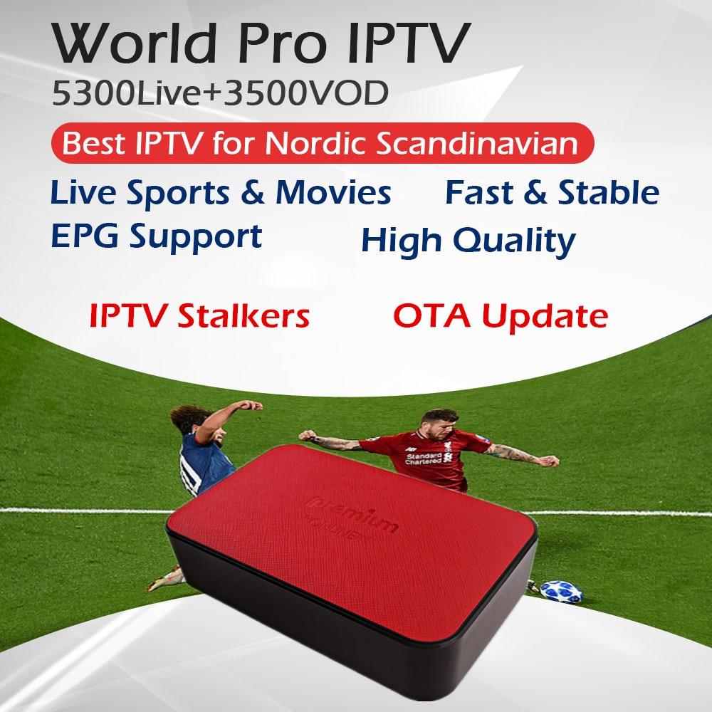 IPremium TVonline Pro Android MickyHop OS + Nordic Zweden Noorwegen Europa IPTV Abonnement Amlogic S905X BT4.0 WiFi Media Player-in Set-top Boxes van Consumentenelektronica op  Groep 1