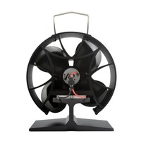 Round 4 Blades Heat Powered Stove Fan Fuel Saving Solid Aluminum Stove Fan Eco Friendly Premium