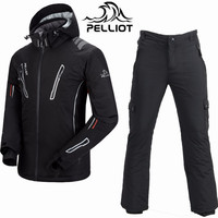 Pelliot Ski Suit Men Waterproof 10K Ski Jacket Snowboard Pants Super Warm Breathable Snowboarding Suits Outdoor