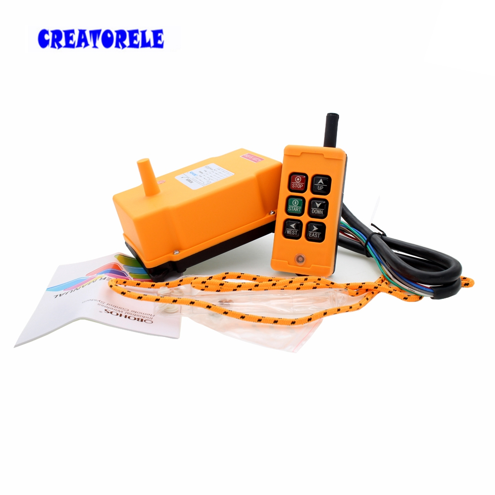 Image 2 - New Arrivals crane industrial remote control HS 6 wireless transmitter push button switch China-in Switches from Lights & Lighting