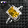 Big Promotion 2ct Real 925 Silver Ring SWA Element imitated Diamond Rings For Women Wholesale Wedding Engagement Jewelry R&J New