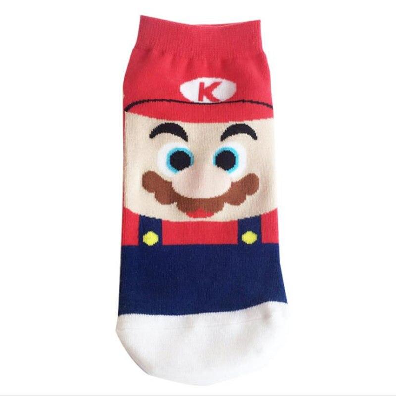 Hot Sale Women Socks Cotton Mario series women Short Socks Colorful Breathable Cartoon cute funny Socks in Socks from Underwear Sleepwears