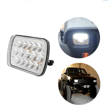ECAHAYAKU 2x 45W LED high/low beam driving work light Headlight Replacement Lamp DRL for Jeep Cherokee XJ Trucks For GMC Savana