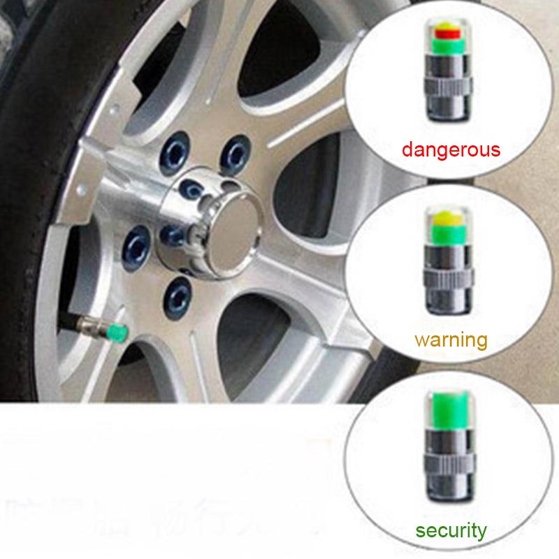 2019 Promotion4 PCS Car Tyre Pressure Cap Visual Tire Warning Device Cap Car Tyre tpms Airgauge Warning Device