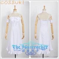 Free Shipping Newest Puella Magi Madoka Magica Akemi Homura White Dress Cosplay Costume Perfect Custom For