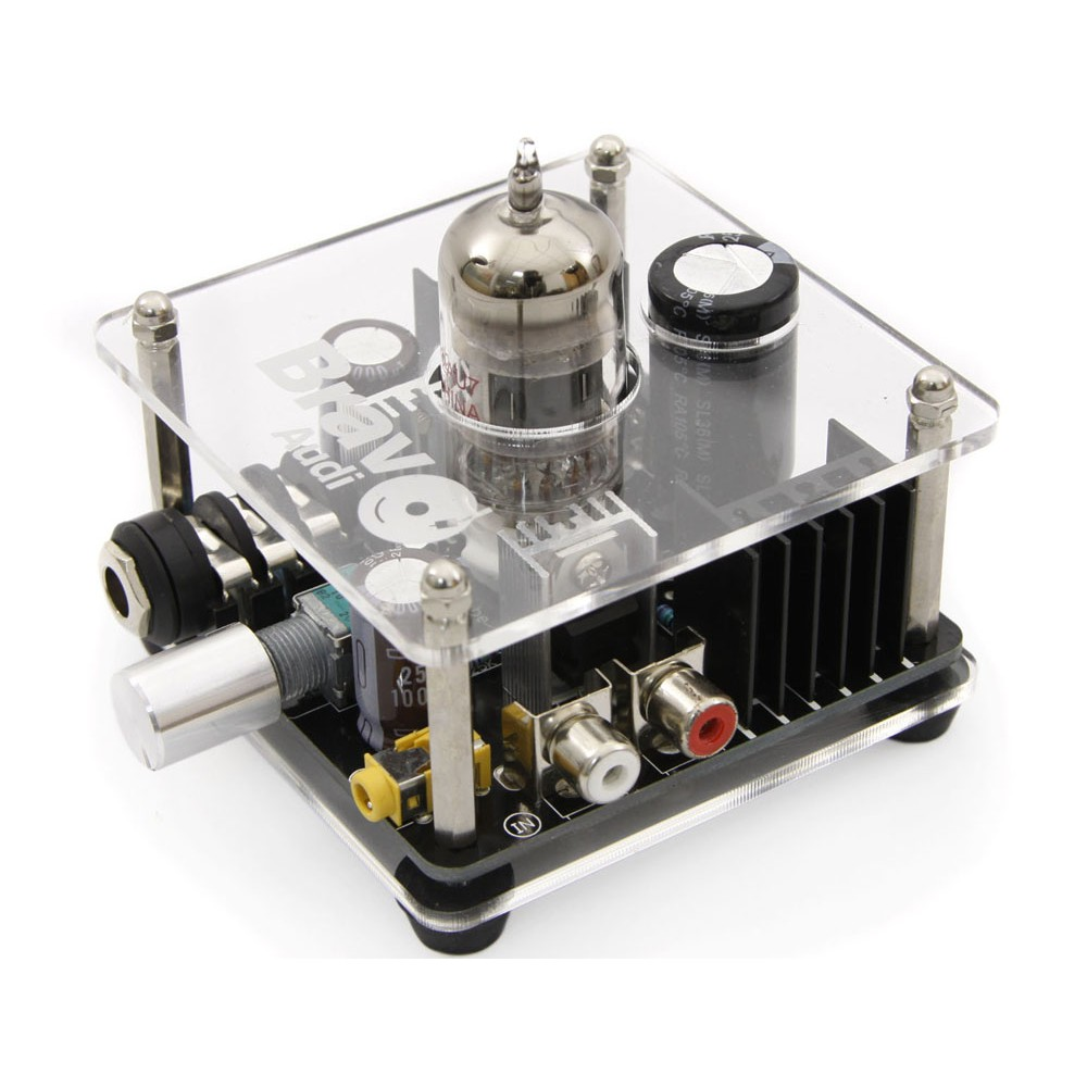 Bravo Audio V2 Valve Class A 12AU7 Tube Headphone Amplifier-in Headphone Amplifier from Consumer Electronics    2
