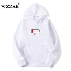 WZZAE 2018 Low Help Me Hoodies Men 3D Creative Hooded Sweatshirts Fashion Streetwear Hip Hop Black Hoodie Male Plus Size S-XXL 1