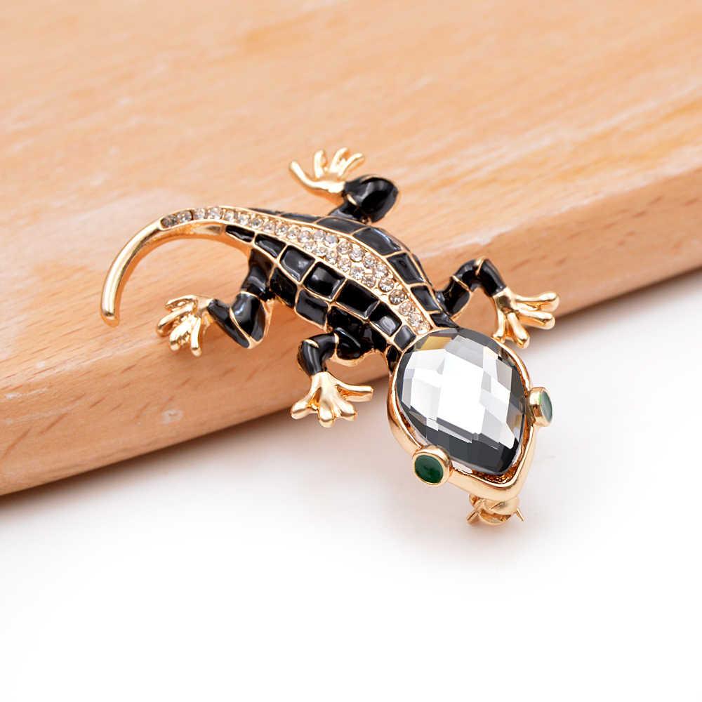 Cindy xiang cristal lagarto broches para as mulheres bonito moda animais pinos estilo verão brilhando jóias crianças acessórios bom presente